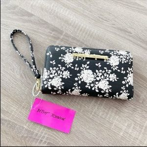 Betsey Johnson Faux Leather Floral Wallet